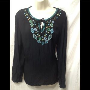 Women's size 12/14 embellished peasant blouse